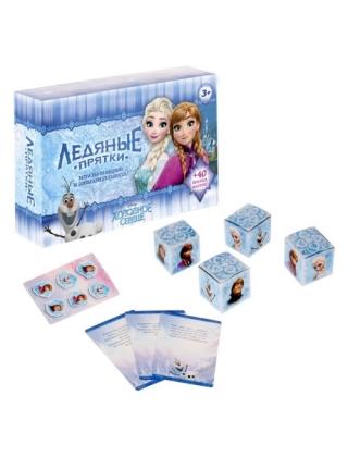 Настольная игра на реакцию и внимание с фантами Ледяные прятки Холодное сердце