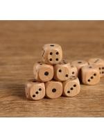 Кости игральные Зарики Кубики деревянные 1,4х1,4 см