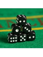 Кости игральные Зарики Кубики черные 1,2х1,2 см
