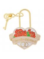 Свадебный замок с ключиком с заливкой Ты + Я=семья