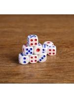 Кости игральные Зарики Кубики белые 1,4х1,4 см