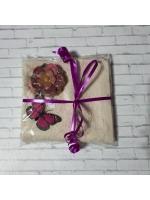 Подарочный набор полотенчеко и мыльце ручной работы