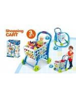 Тележка игровой набор для супермаркета голубая