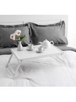Столик для завтрака складной Ренессанс 60 х 40 см массив ясеня цвет белый