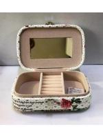 Кейс шкатулка органайзер для драгоценностей и украшений 1 ярус бабочка