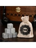 Набор камней для виски Победитель по жизни 6 шт в текстильном мешочке