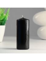 Свеча цилиндр парафиновая цвет Черный 5х12 см