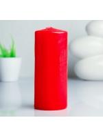 Свеча цилиндр парафиновая цвет Красный 7х17 см