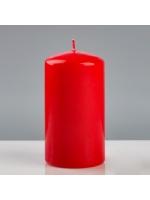 Свеча цилиндр парафиновая цвет Красный 7х13 см лакированная