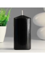 Свеча цилиндр парафиновая цвет Черный 7х14 см