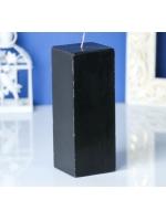 Свеча квадрат парафиновая цвет Черный 5,6х15 см
