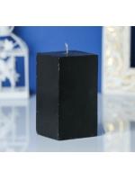 Свеча квадрат парафиновая цвет Черный 5,6х10 см