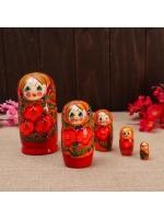 Матрешка 5 в 1 Галя оранжевая 5 кукольная 15 см