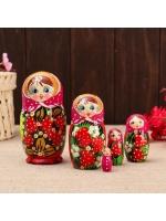 Матрешка 5 в 1 Катя ягоды 5 кукольная 13 см