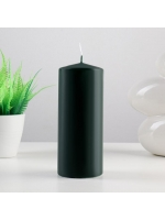 Свеча цилиндр парафиновая цвет Темно-зеленый 7х17 см