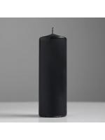 Свеча цилиндр парафиновая цвет Черный 5х15 см
