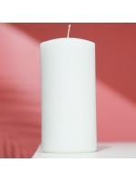 Свеча цилиндр парафиновая цвет Белый 7х14 см
