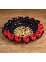 Игра Пьяная рулетка Алко-Вегас 29 х 29 см 16 стопок
