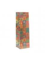 Пакет подарочный под бутылку 11 х 10 х 36 см Happy New Year