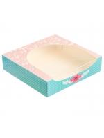 Упаковка для кондитерских изделий Чудесный подарок 20 × 20 × 5 см с окошком