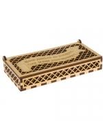 Шкатулка деревянная для денег Меня деньги не волнуют 17 х 8 х 3 см