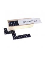 Игра настольная Домино в пластиковом или в деревянном пенале