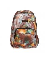 Рюкзак молодёжный на молнии Колор 1 отдел 2 наружных и 2 боковых кармана усиленная спинка коричневый