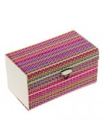 Органайзер шкатулка соломка для драгоценностей и мелочей цветная