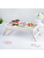 Столик складной деревянный для завтрака Моей Любимой розы 48 х 28 см