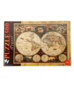 Настольная игра Пазл Старинная карта 1660 года 500 элементов