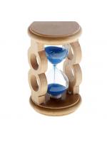 Часы песочные круглые рамка два кольца