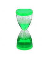 Сувенир водный столбиком в виде песочных часов зеленые