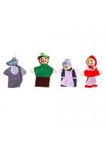 Кукольный театр на пальчики Красная шапочка набор 4 штуки