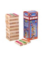 Настольная игра Дженга Падающая башня с заданиями
