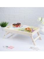 Столик складной деревянный для завтрака Любимой бабушке 48 х 28 см