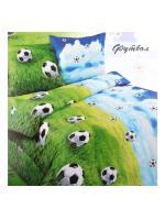 Постельное бельё детское Футбол 1,5 спальное Бязь