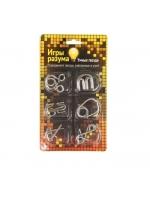 Набор металлических головоломок Игры разума гвоздики 6-7 шт в ассортименте