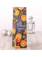Пакет подарочный под бутылку ламинированный Уюта и тепла в новом году 13 x 36 x 10 см