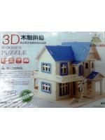 Деревянный пазл 3Д домик