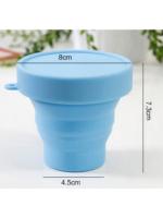 Складной силиконовый стаканчик 150мл с крышкой