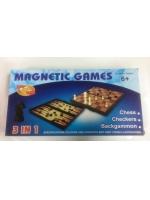 Набор 2 в 1 шашки шахматы в пластиковой коробке магнитные