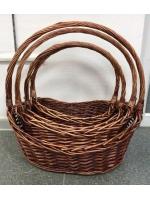 Набор Плетенных корзин для хранения декоративная 4 в 1