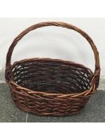 Плетенная корзина для хранения декоративная средняя