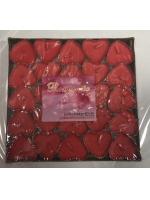 Набор свечей в гильзе 50 штук в упаковке сердечки
