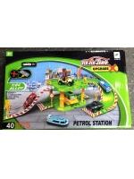 Набор парковка трек Заправочная станция Petrol Station six-six-zero 40 единиц