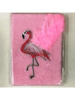 Ежедневник для девочки А5 Розовый фламинго с перьями