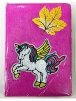 Ежедневник для девочки А5 мягкий единорожка с листиком