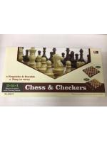Набор 2 в 1 шашки шахматы дерево 30 х 30 см