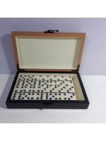 Игра настольная Домино в деревянном чемодане