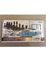 Набор 3 в 1 шашки шахматы нарды деревянные 34,5 х 17,5 х 4,5 см белая коробка